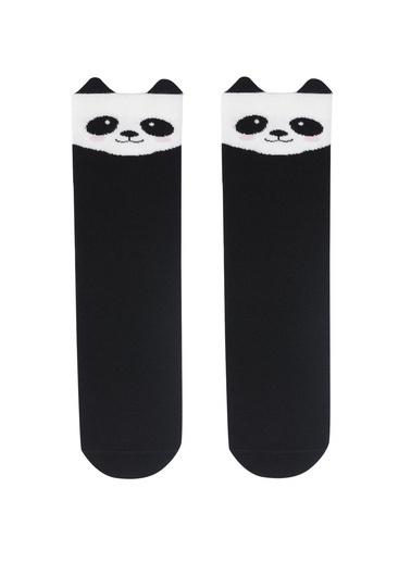Katia & Bony Joyful Panda Çocuk Dizaltı Çorap  Siyah